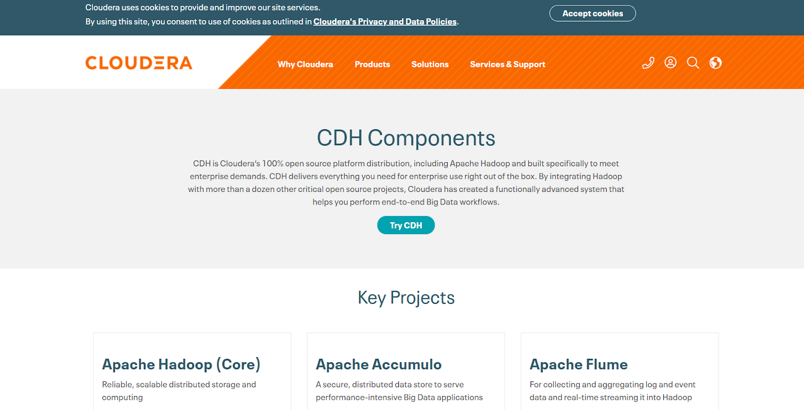 CDH is one of the big data tools