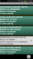 Screenshot of Schedule Boston Celtics fans
