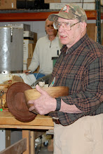 Photo: Bob explained that someone mentioned a covered bowl and he had never made one, now he has.