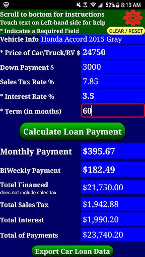 auto car loan payment calculator pro apk download apkpure co
