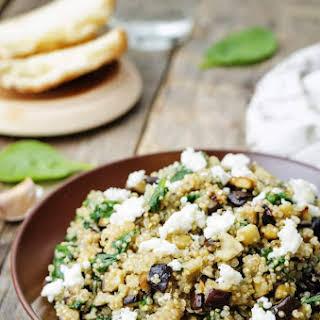 Roasted Eggplant and Quinoa Salad with Feta.