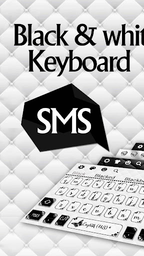 SMS Black White Keyboard screenshots 1