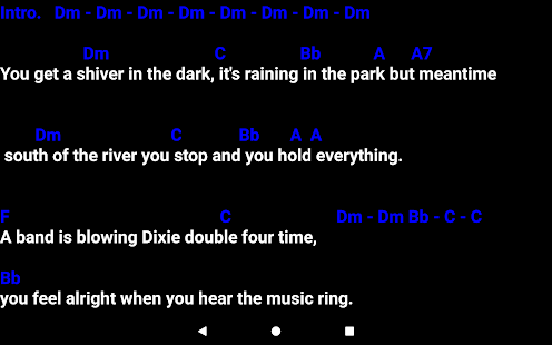SingerPro Music Teleprompter Screenshot