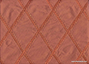 Photo: Embroidered Silk Taffeta ~ Feena - Red