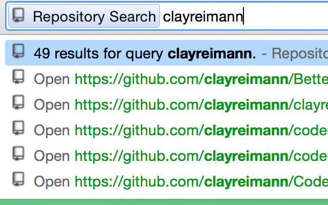 Repository Search
