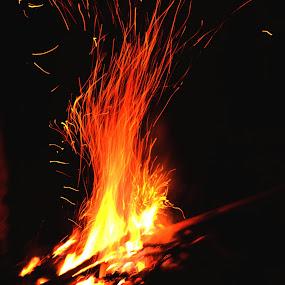 Camp fire by Sudhindu bikash Mandal - Abstract Fire & Fireworks