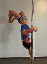 Photo: vertical pole gymnastics