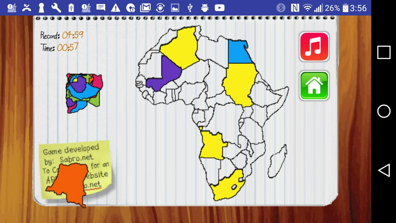 africa map drag and drop