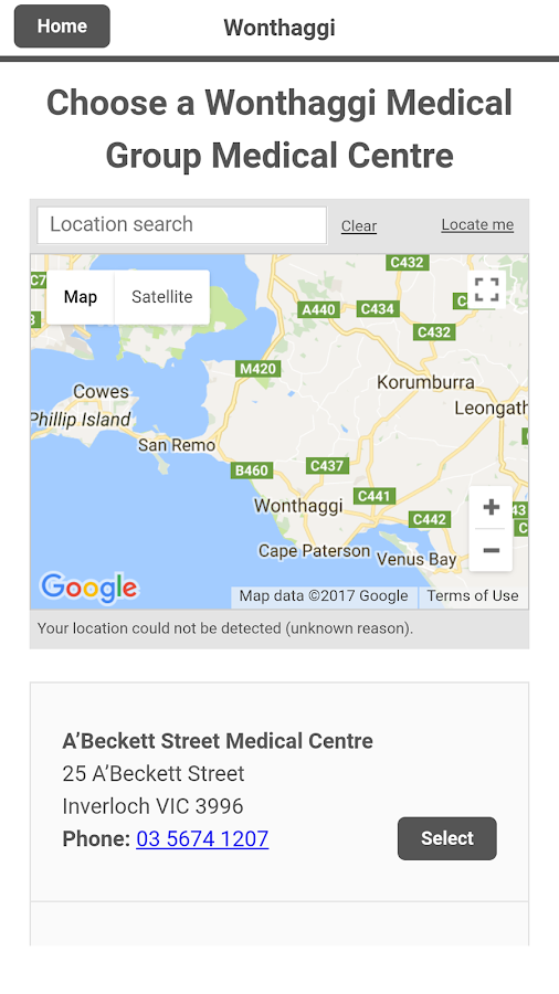 Wonthaggi Medical Group- screenshot