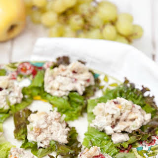 Healthy Turkey Salad with Grapes, Apples & Walnuts.