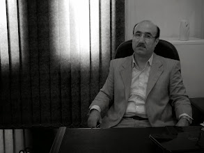 Photo: Dr Azad, director of The Kurdish Academy of Sciences, Hawlêr, 2011