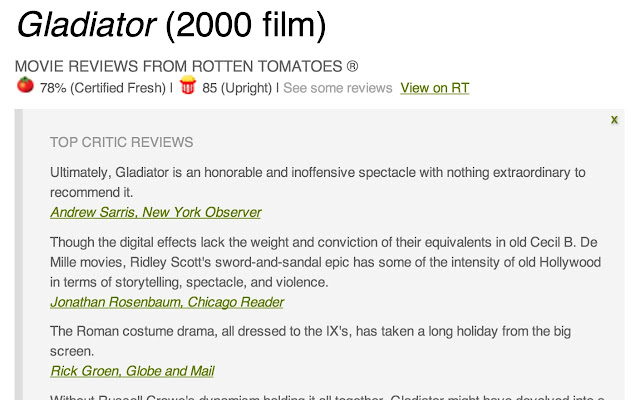 Wikipedia Movie Helper