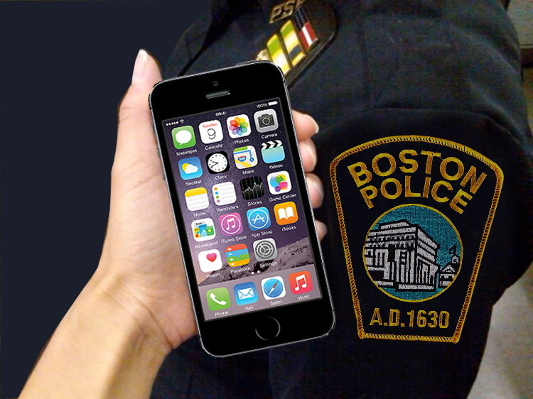 police officers exporting / saving text messages from iPhone to computer