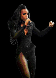 SKYLARK: Grammy Award winner Kelly Rowland performs in Newtown on Tuesday. Pic: VELI NHLAPO. 21/04/2010. © Sowetan.