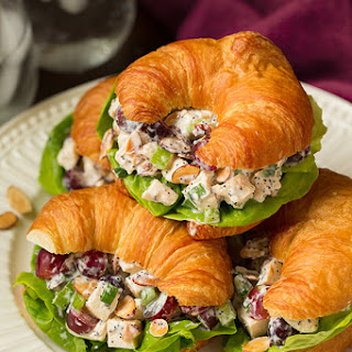 Almond Poppy Seed Chicken Salad Sandwiches.