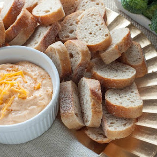 Healthy Spicy Cheddar Cheese Dip.