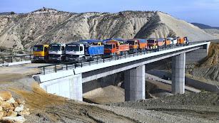 Prueba de carga en el Barranco Hondo, en un tramo anterior entre Los Gallardos y Sorbas.