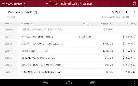 Affinity Federal Credit Union screenshot 6