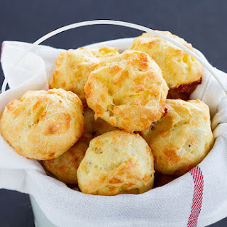 Cheddar Gougères (Savory Cheese Cream Puffs).