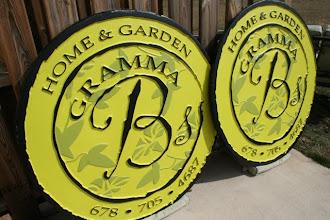 Photo: Carved Signs, Gramma B's, Atlanta GA, See more, www.nicecarvings.com