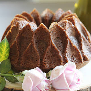 Dark Chocolate Red Wine Bundt Cake.