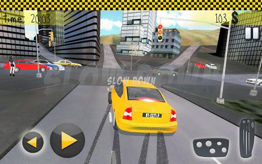タクシー運転3Dの雪の都市