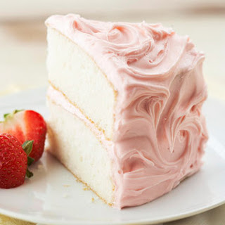 Champagne Cake with Fresh Strawberries Recipe