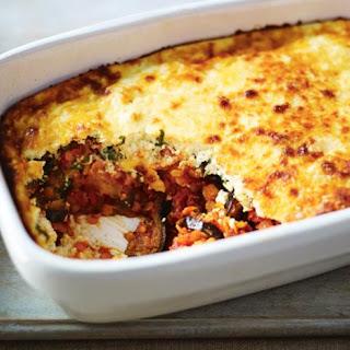 Red Lentil and Aubergine Moussaka Recipe