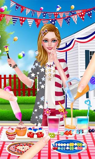 美國獨立日派對- 少女假日派對換裝游戲