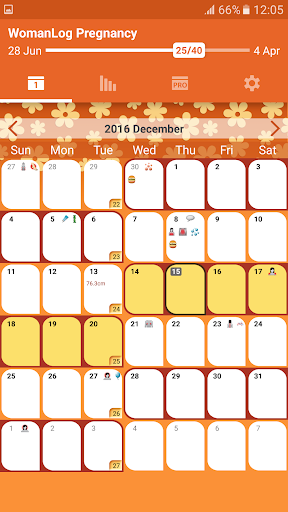 WomanLog Pregnancy Calendar screenshot for Android