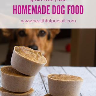 Homemade Healthy Dog Food Pucks.
