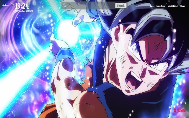 Goku Ultra Instinct Wallpapers New Tab Theme