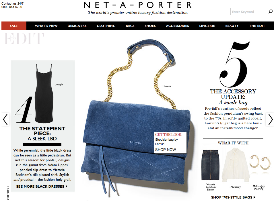 net-a-porter shoppable content