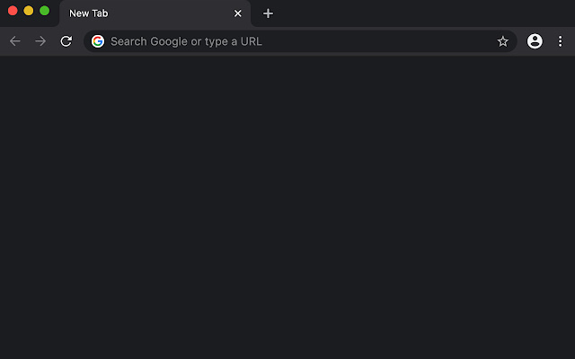 Blank New Tab for Dark Mode