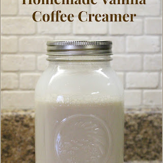 Homemade Vanilla Coffee Creamer.