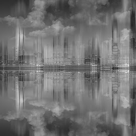 Skyline! by Rob Menting - Digital Art Places ( rotterdam, city, concept, eos, netherlands, waterfront, travel, europe, water, canon, architecture )