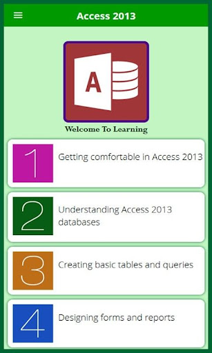 Learn for Access 2013