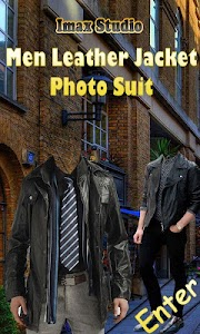 Men Leather Jacket Photo Suit screenshot 0