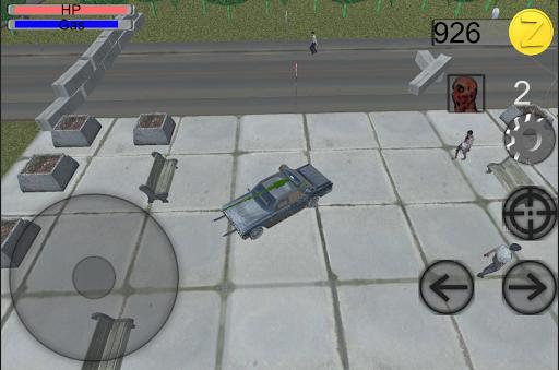 Rusty car agaist zombies 3D