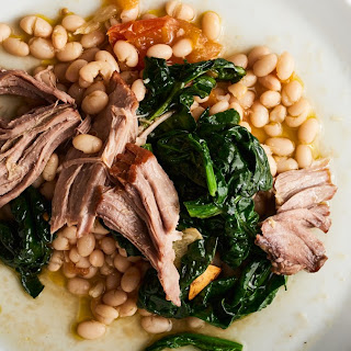 Slow-Cooked Pork Shoulder with Braised White Beans.