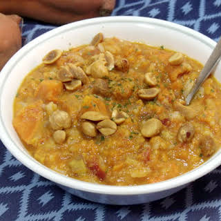 African Peanut Soup with Sweet Potatoes.