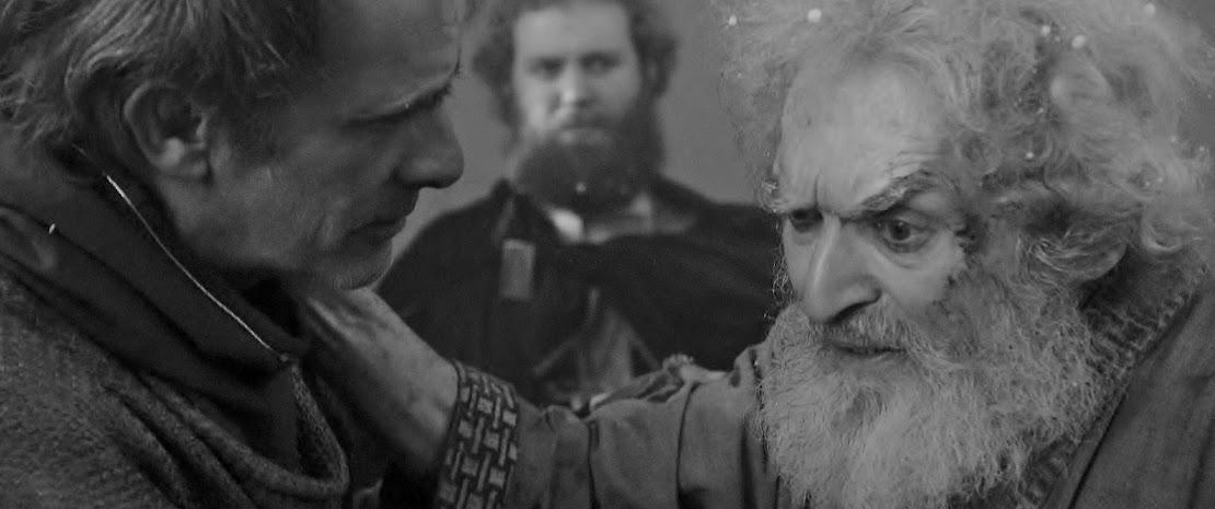 Kent consoling Lear  Stills Alexander Barnett Peter Holdway Shakespeare film.jpg