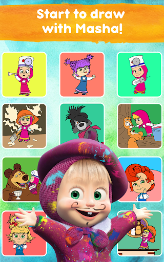 Masha and the Bear: Free Coloring Pages for Kids 1.0.3 screenshots 21