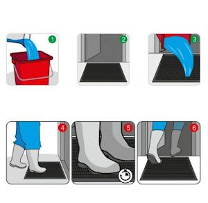 Covor dezinfectant cu tava, Dimensiune 71 x 35 x 3 cm