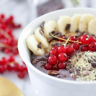 Tofu Açaí & Red Currant Breakfast Bowls. Vegan. GF..