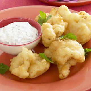 Crispy Cauliflower with Yogurt-Mustard Sauce.