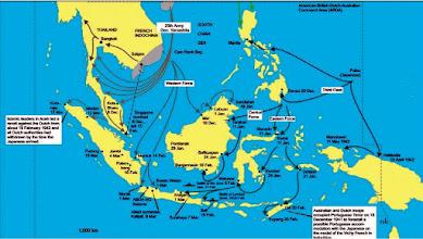 Photo: Peta penyerangan Tentara Jepang ke Indonseia dalam Perang Dunia II 1941-1945 Lihat: https://nurkasim49.blogspot.co.id/2011/12/iv.html