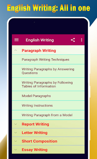 Download English Writing ~ Essay, Paragraph, letter etc 1.6 1