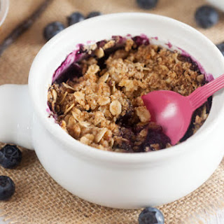 Blueberry Crisp with Lemongrass + Ginger