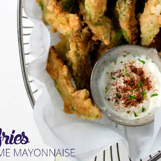 Avocado Fries with Chili Lime Mayonnaise.